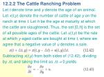 12 2 2 the cattle ranching problem