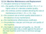 12 3 4 machine maintenance and replacement