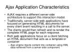 ajax application characteristics34