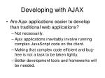 developing with ajax