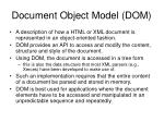 document object model dom