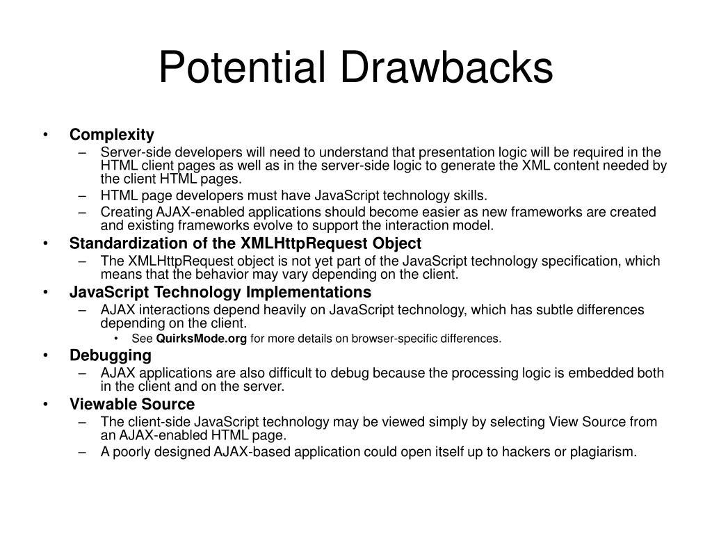 Potential Drawbacks