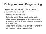 prototype based programming