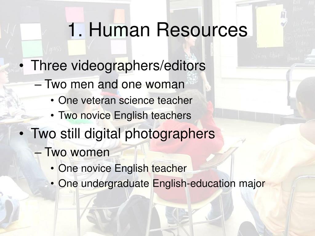 1. Human Resources