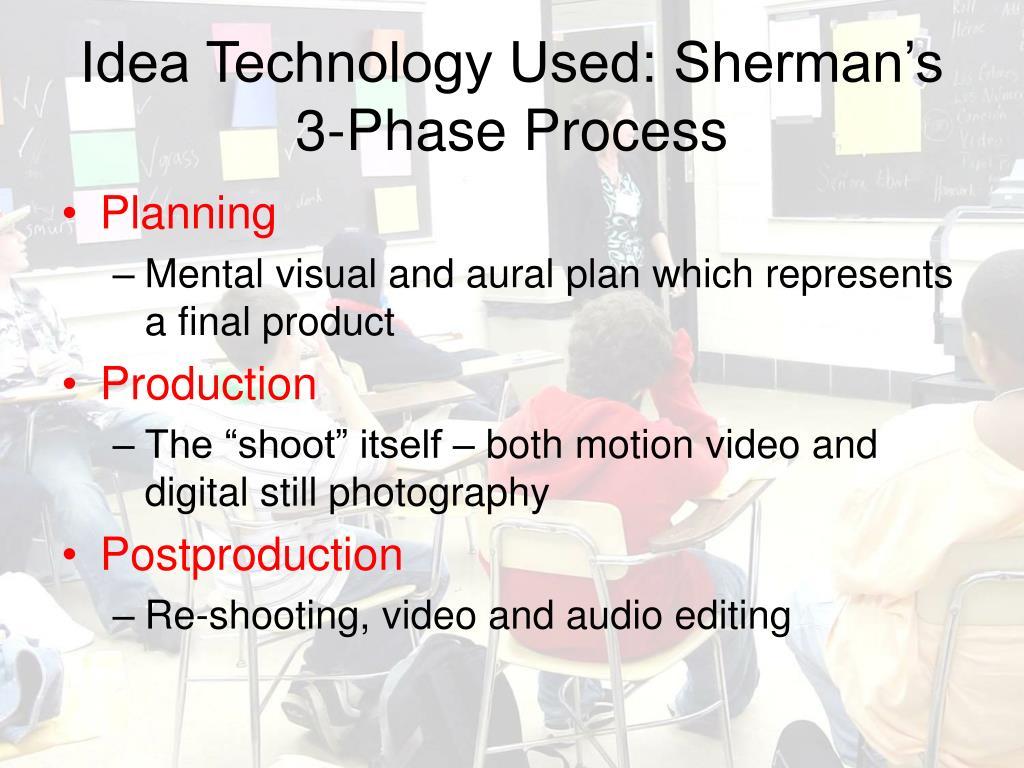 Idea Technology Used: Sherman's