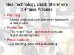 idea technology used sherman s 3 phase process