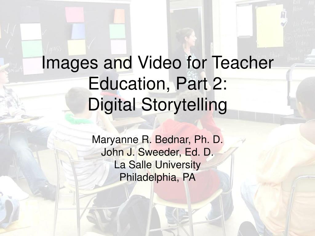 Images and Video for Teacher Education, Part 2: