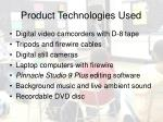 product technologies used