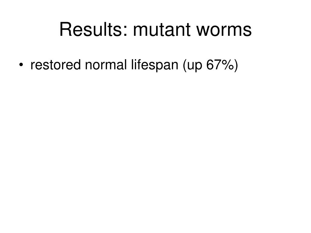 Results: mutant worms