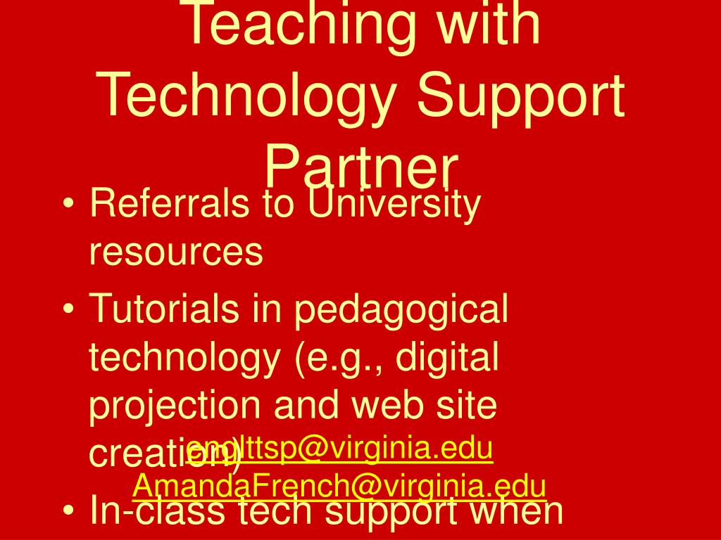 Teaching with Technology Support Partner