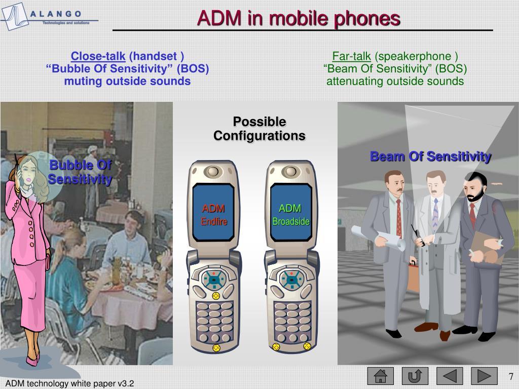 ADM in mobile phones