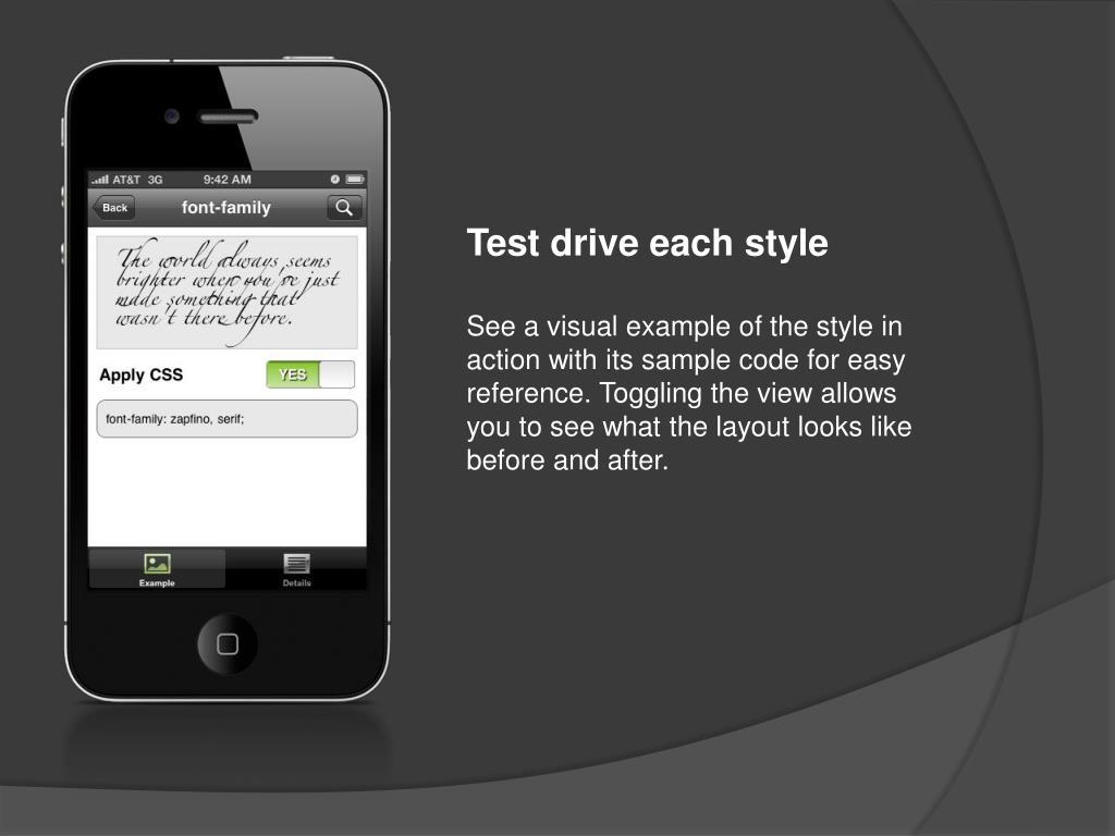 Test drive each
