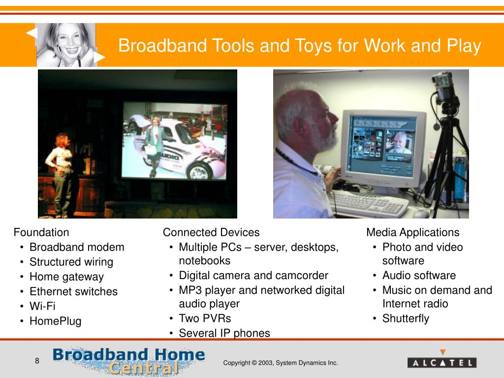 Broadband Tools and Toys for Work and Play