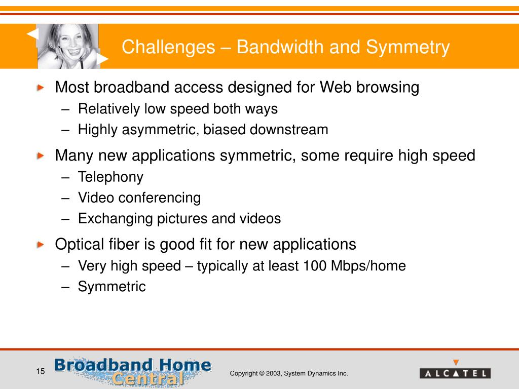 Challenges – Bandwidth and Symmetry