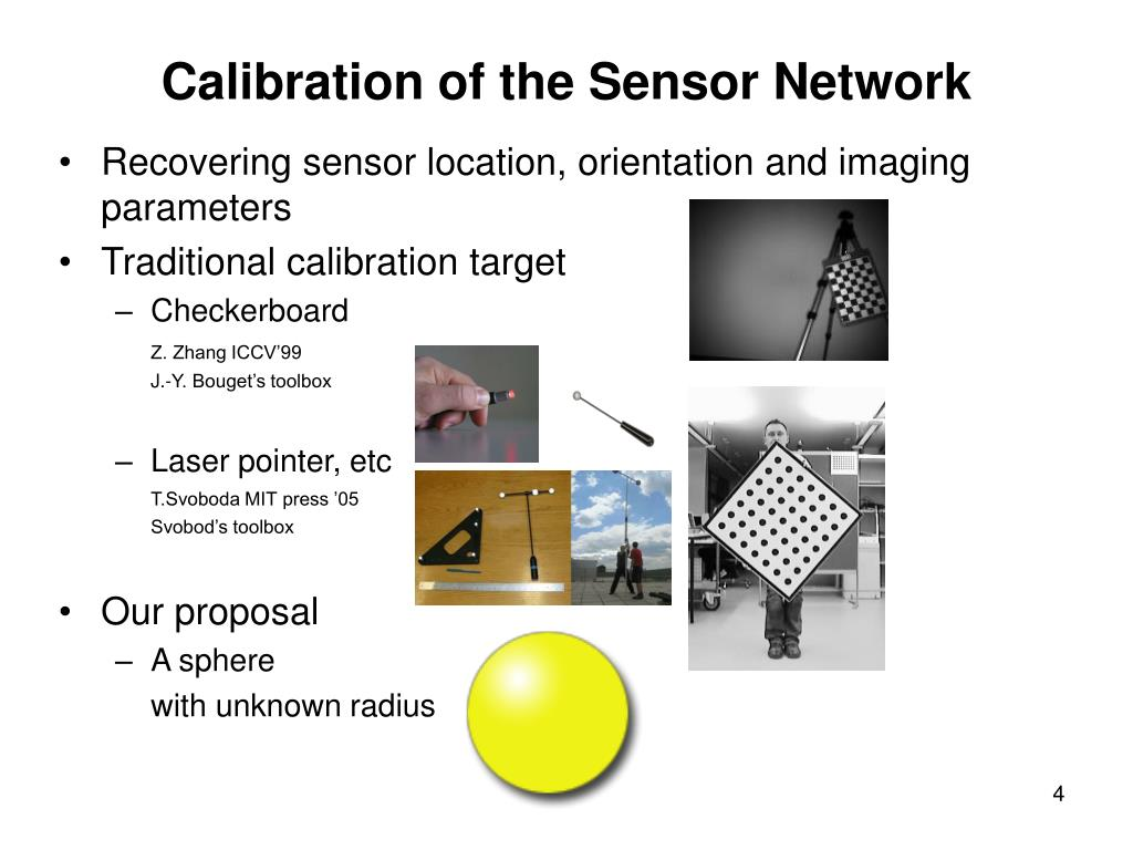 Calibration of the Sensor Network