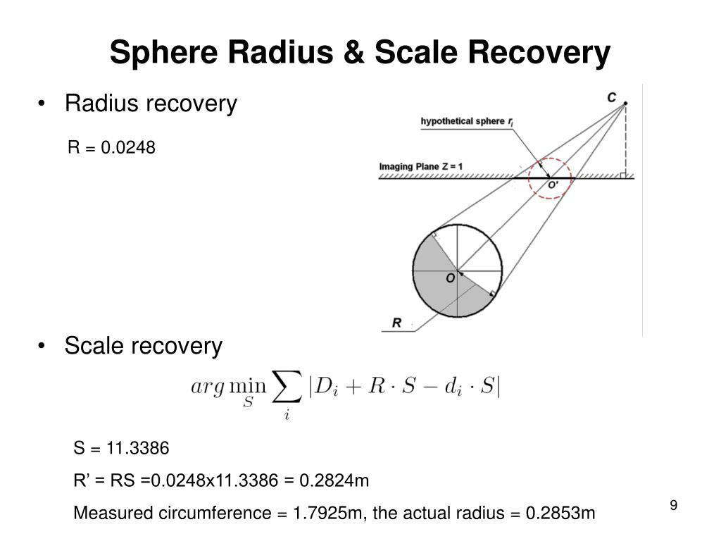 Sphere Radius & Scale Recovery