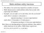 multi attribute utility functions