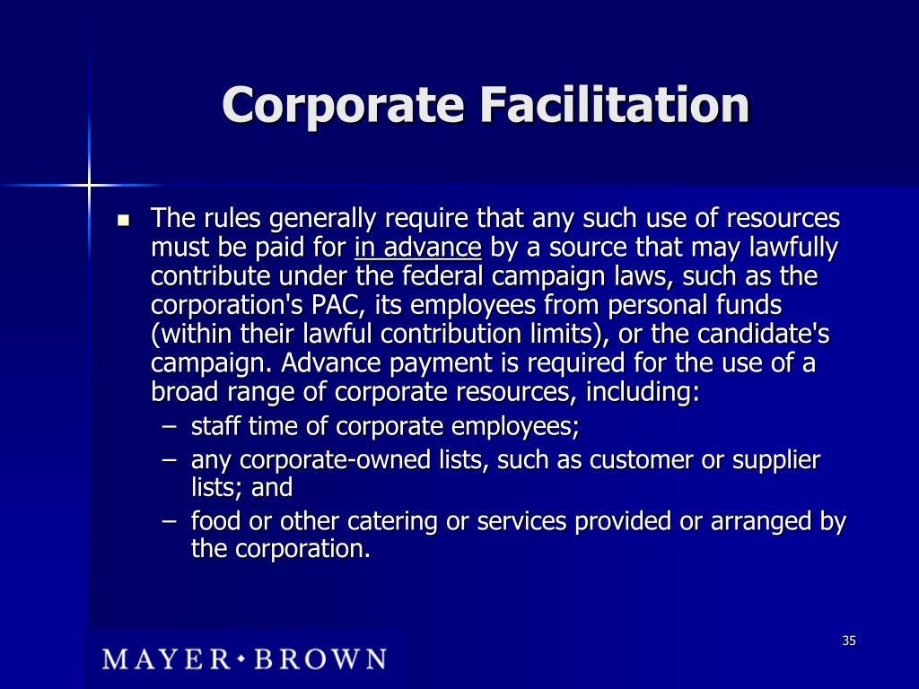 Corporate Facilitation