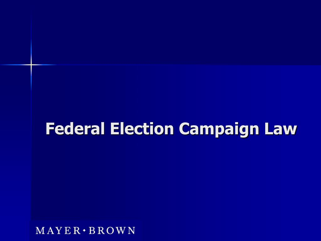 Federal Election Campaign Law