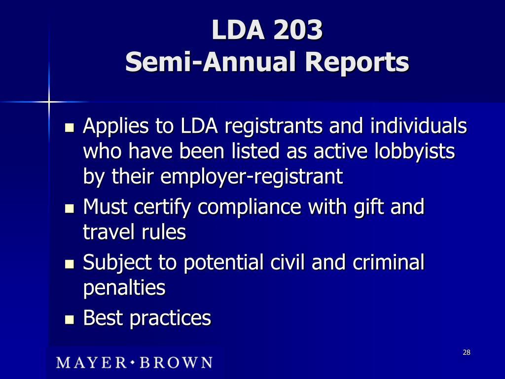 LDA 203