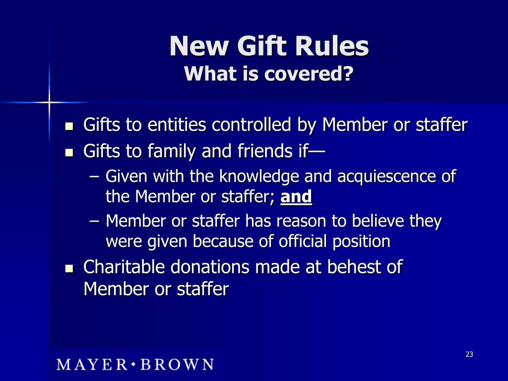 New Gift Rules