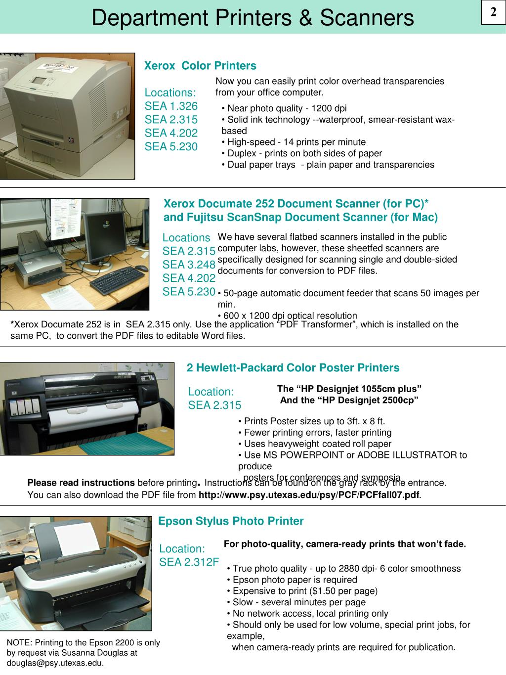 Department Printers & Scanners