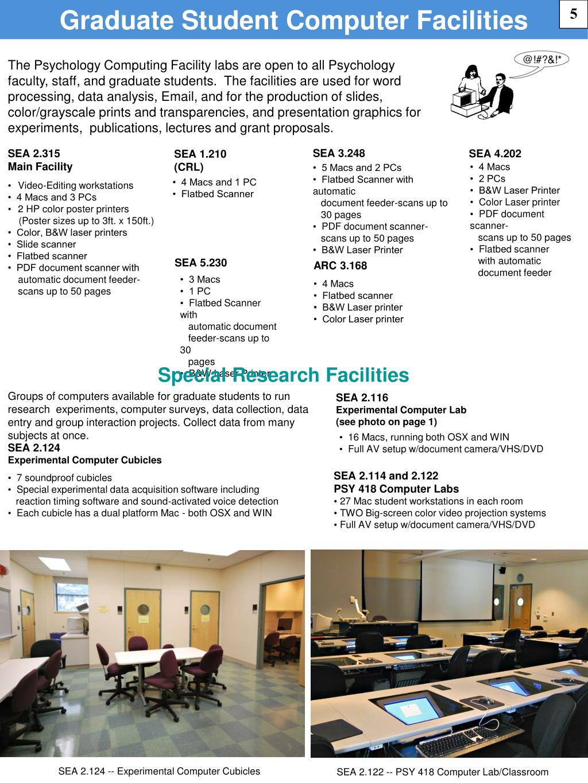 Graduate Student Computer Facilities