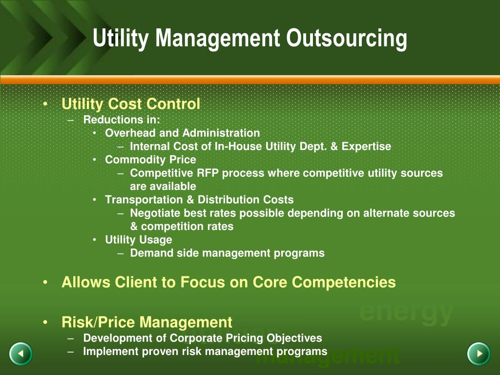 Utility Management Outsourcing