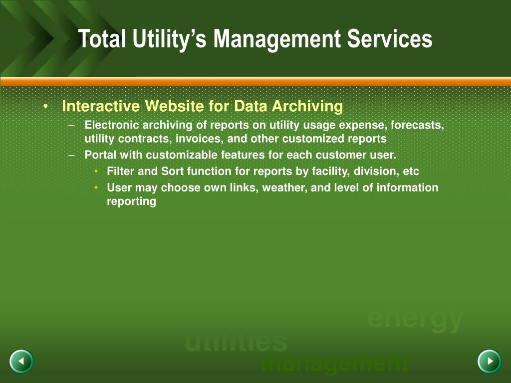 Total Utility's Management Services