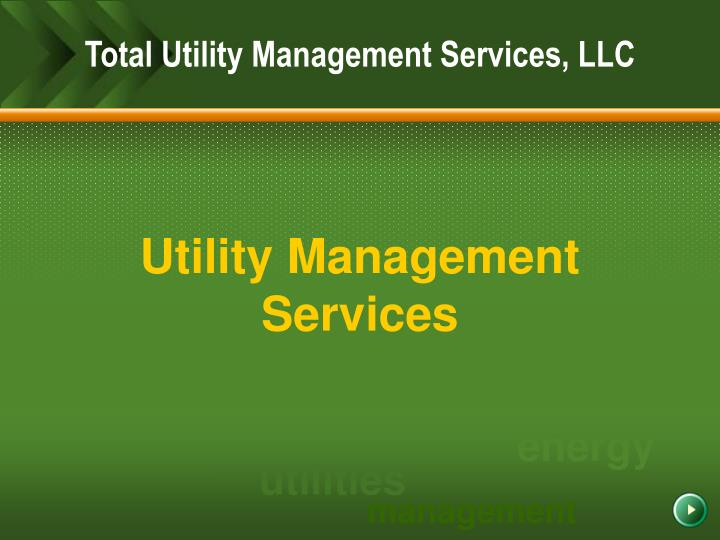 Utility management services l.jpg
