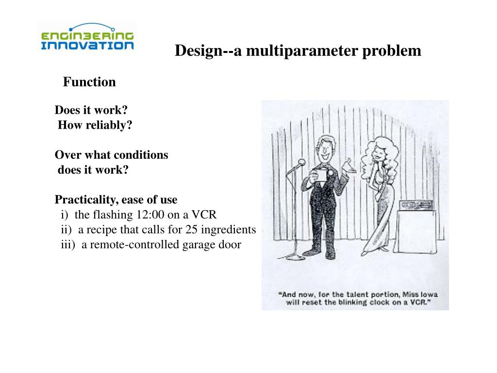 Design--a multiparameter problem