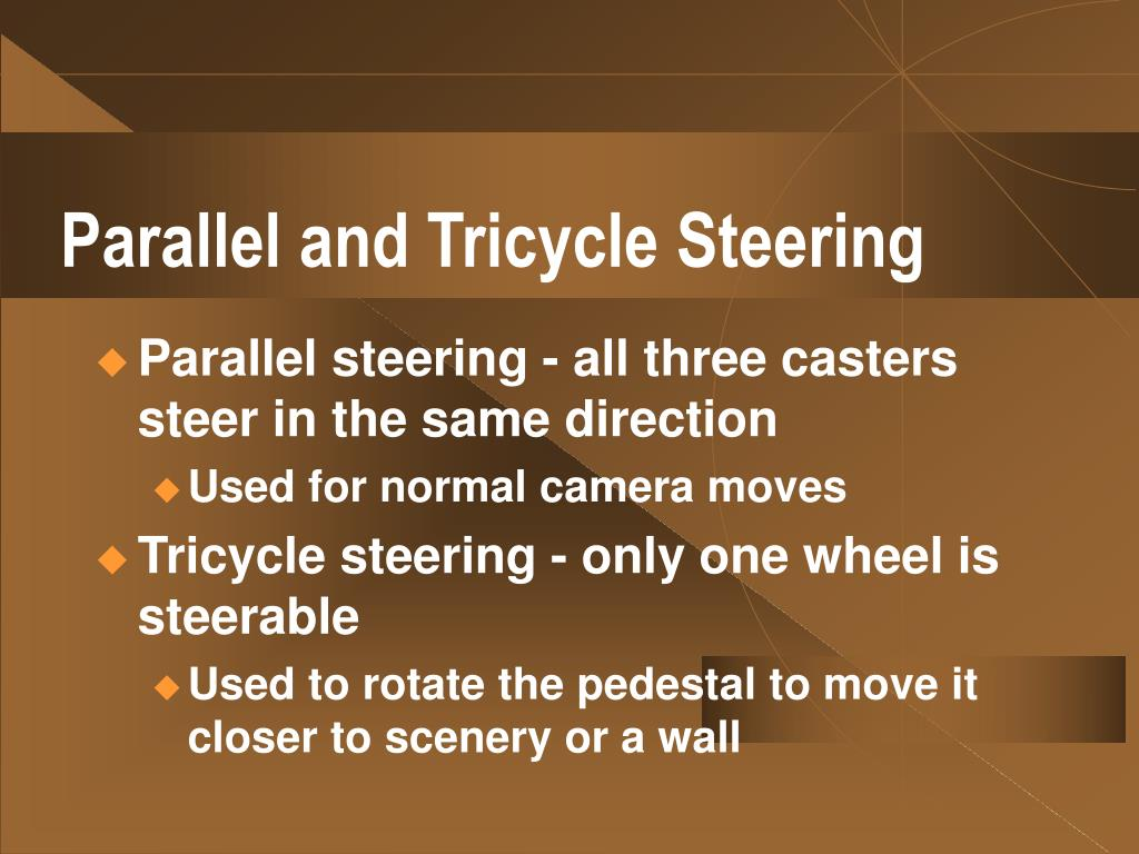 Parallel and Tricycle Steering