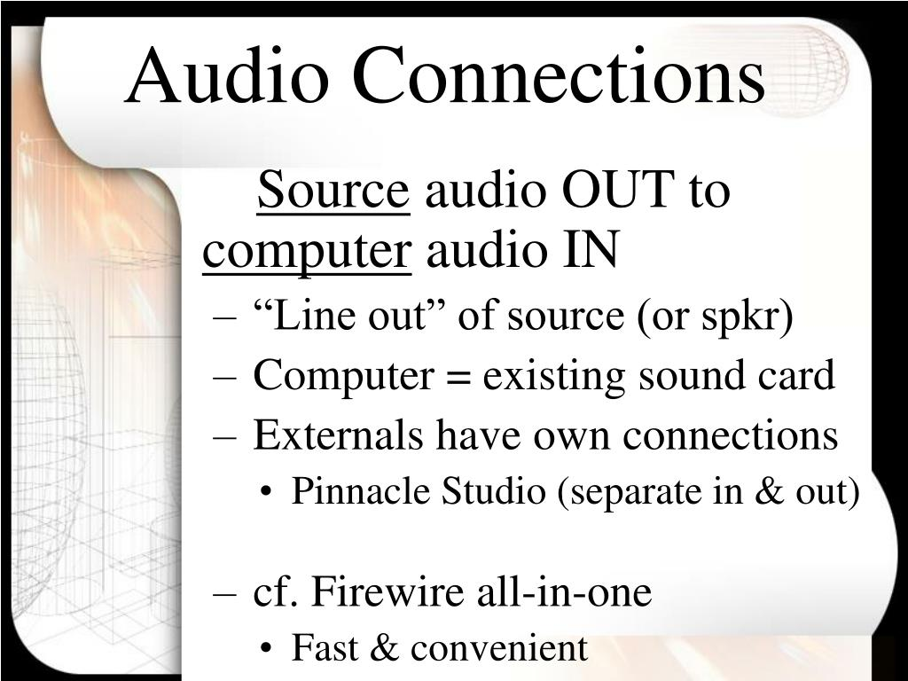 Audio Connections