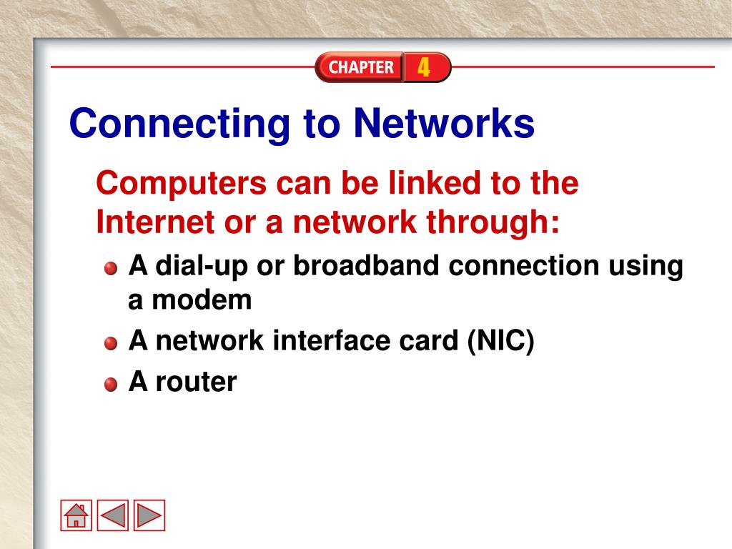 Connecting to Networks