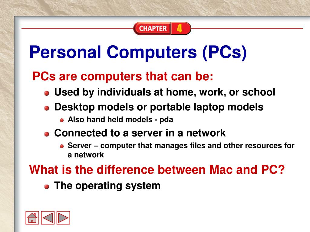 Personal Computers (PCs)