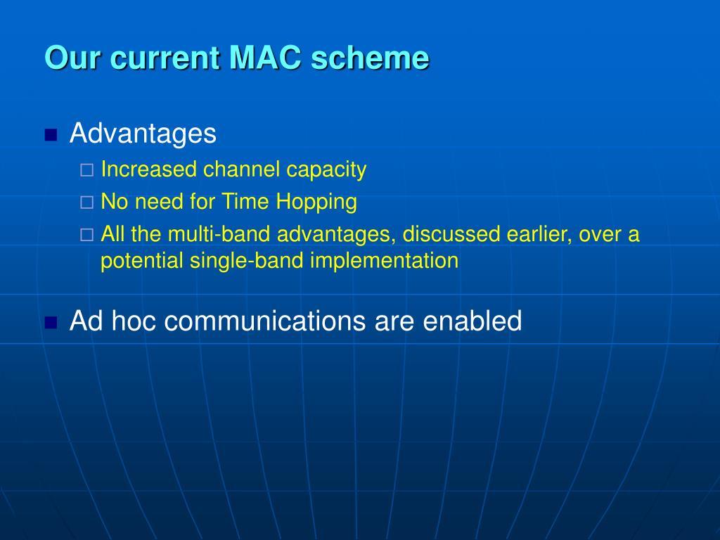 Our current MAC scheme