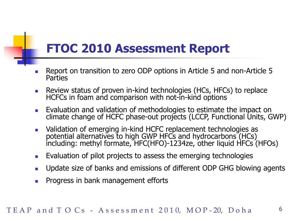 FTOC 2010 Assessment Report