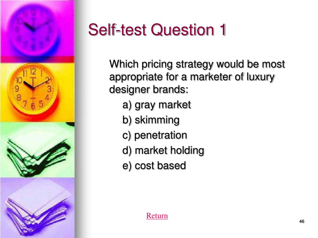 Self-test Question 1