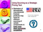 using sourcing as a strategic pricing tool29