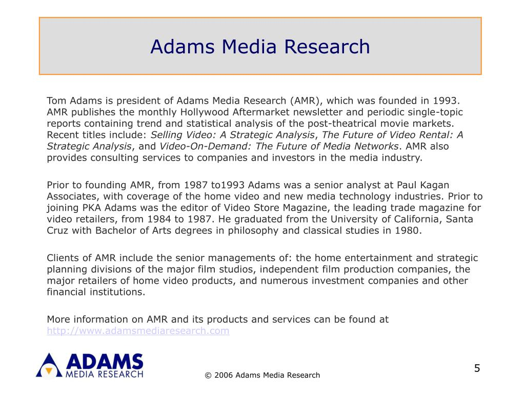 Adams Media Research