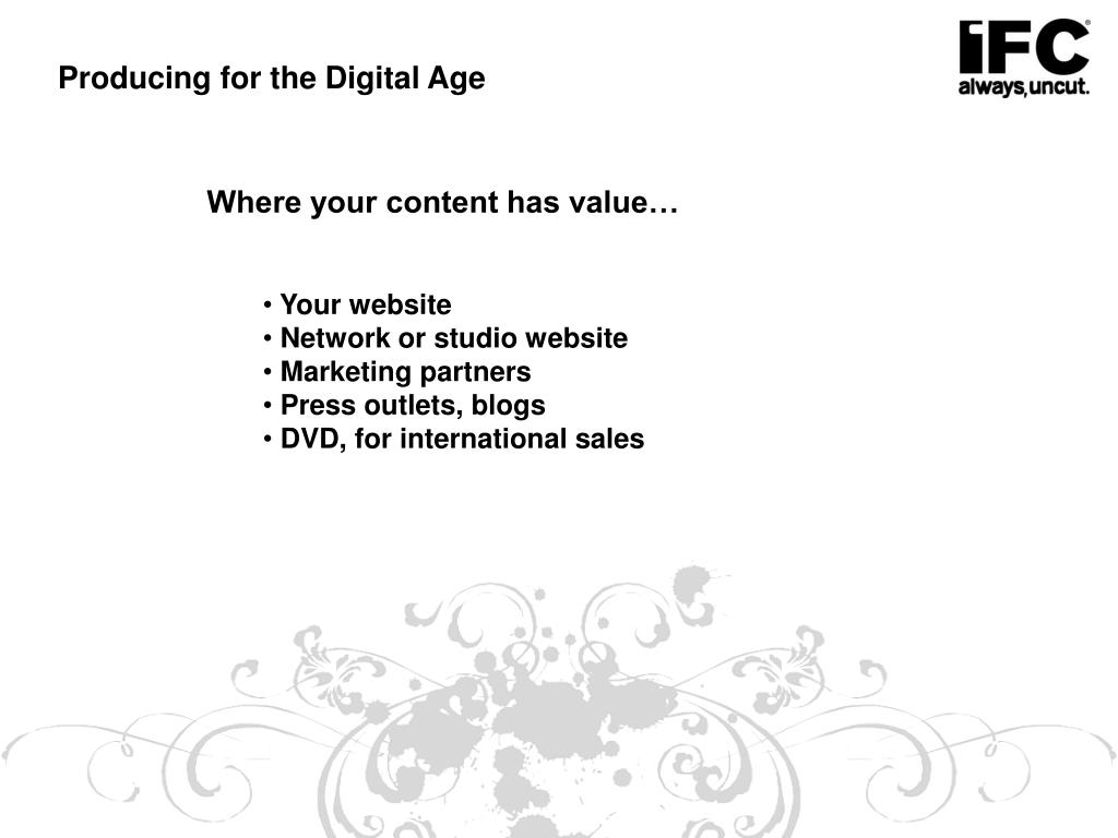 Producing for the Digital Age