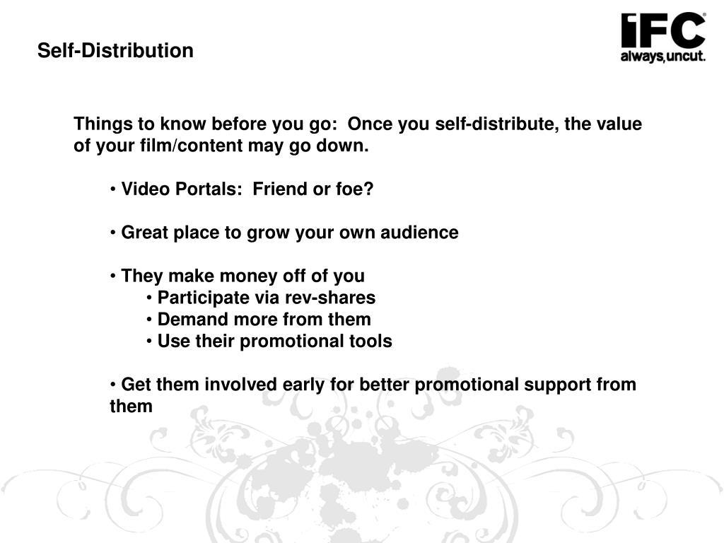 Self-Distribution
