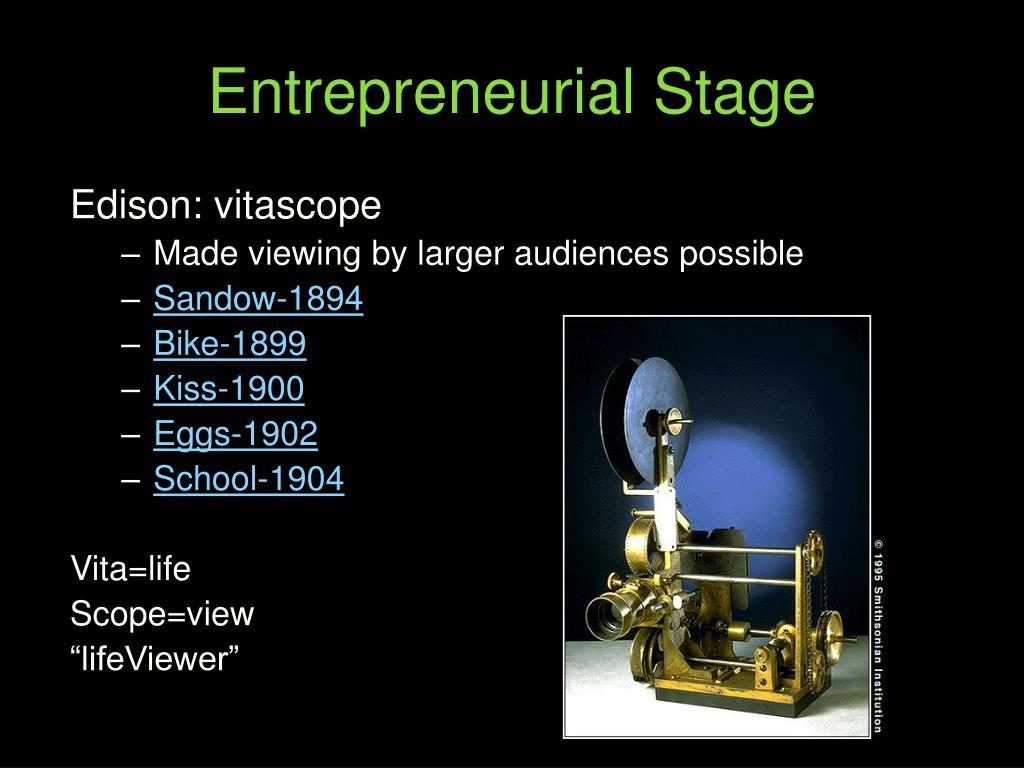 Entrepreneurial Stage