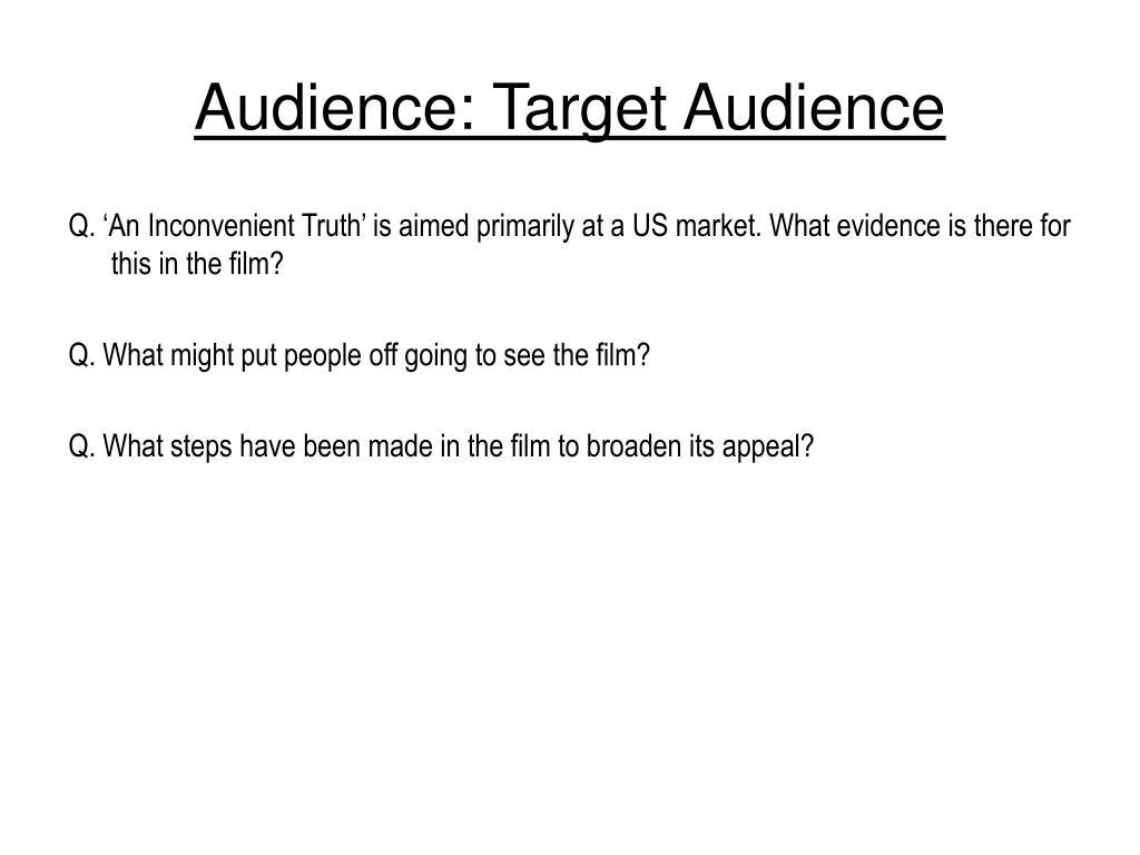Audience: Target Audience
