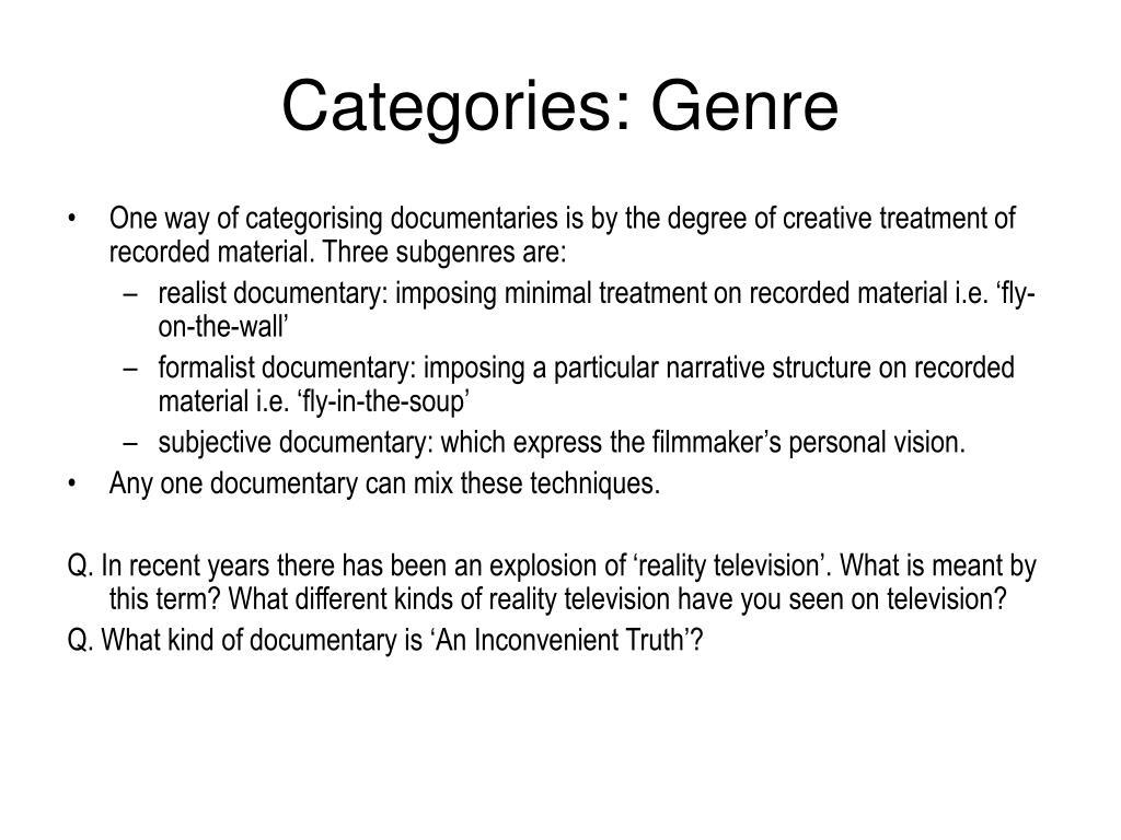Categories: Genre