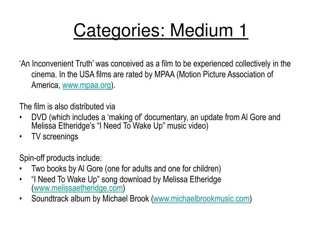 Categories: Medium 1