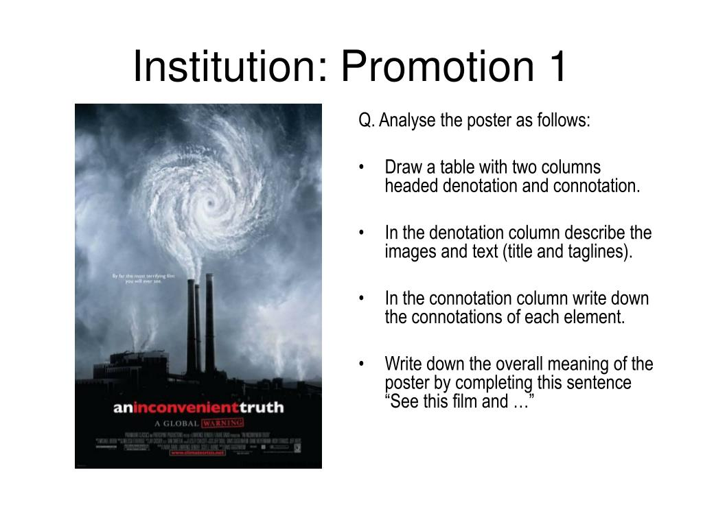 Q. Analyse the poster as follows: