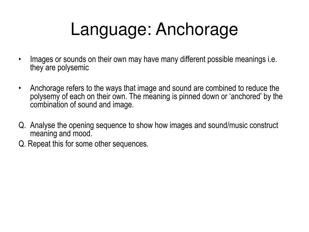 Language: Anchorage