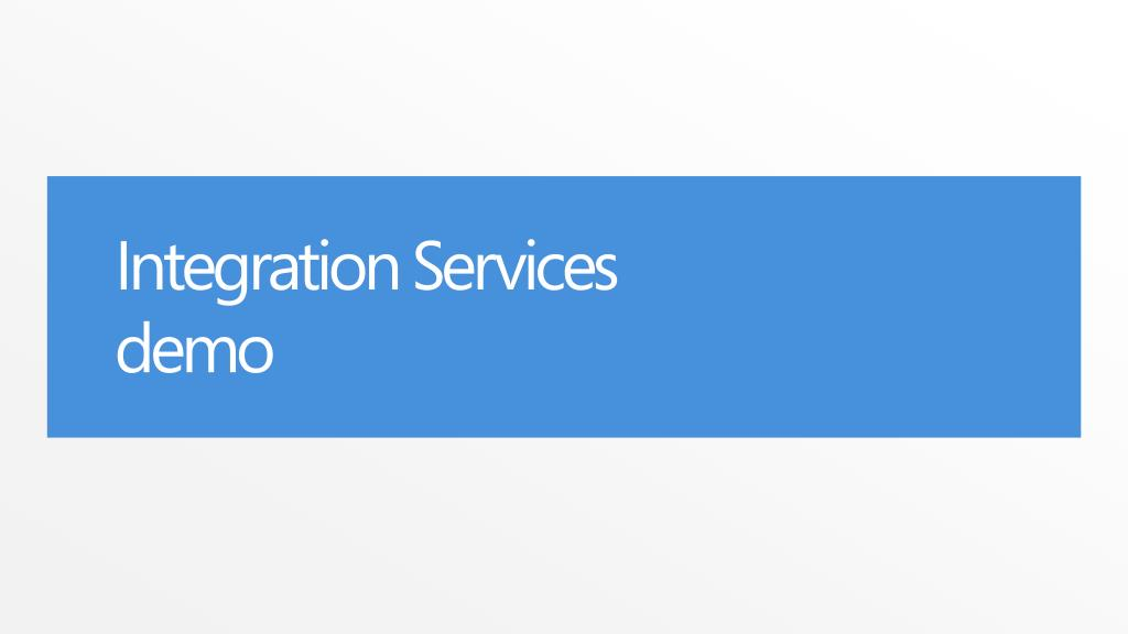 Integration Services