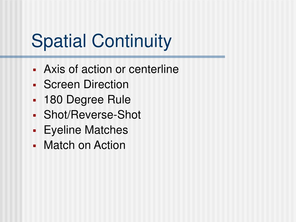 Spatial Continuity